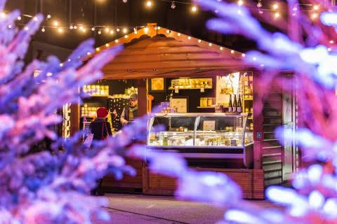 Chalet de marché de Noël