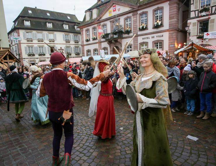 Danse médiévale - Marché de Noël de Ribeauvillé