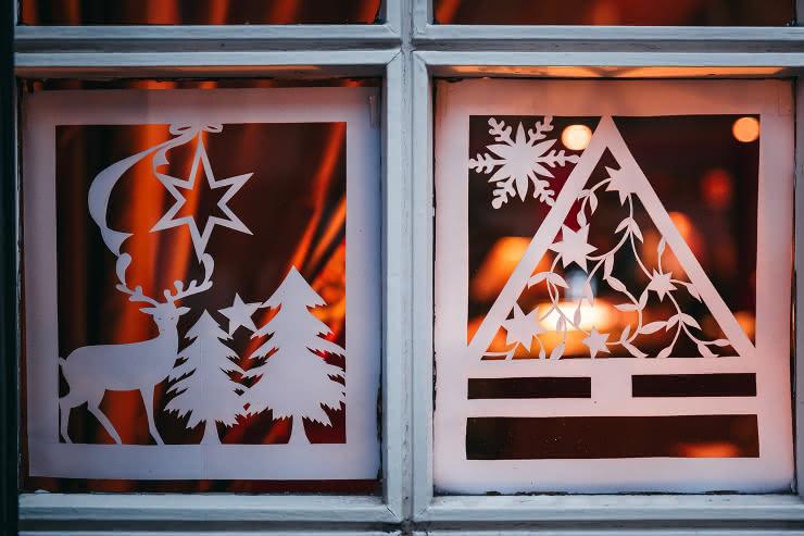 Décor en papier - Noël en Alsace