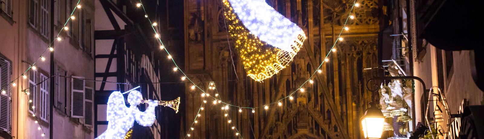 Illuminations de Noël - Rue Mercière Strasbourg